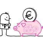 man & piggy bank